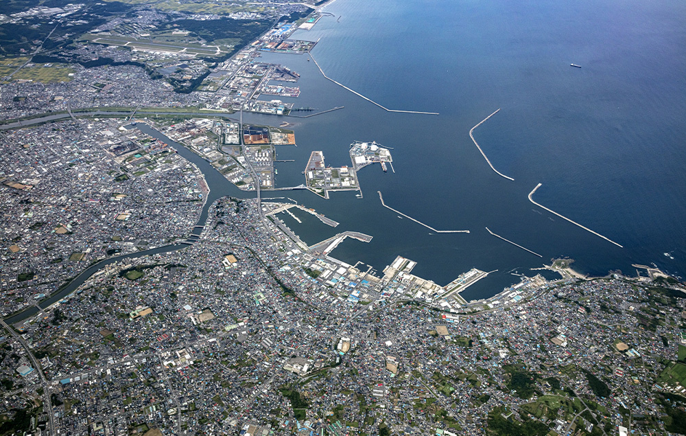 Diverse features of Hachinohe Port